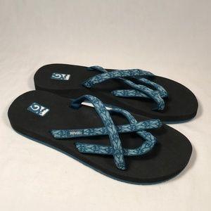 Teva Mush Olowahu Flip Flops Women Size 9  (6840)